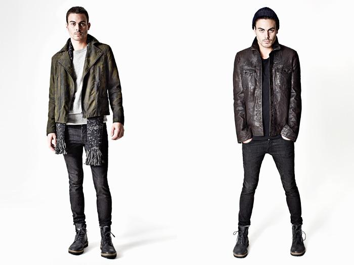 AllSaints Spitalfields 2012-2013 Winter November Mens Lookbook: Designer Denim Jeans Fashion: Season