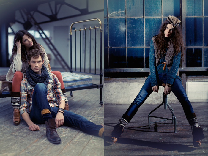 Blend & Blend She 2012 Fall Campaign: Designer Denim Jeans Fashion: Season Collections, Runways, Lookbooks, Linesheets & Ad Campaigns