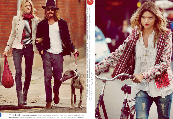 Free People September 2012 Catalog Fall Collection Denim