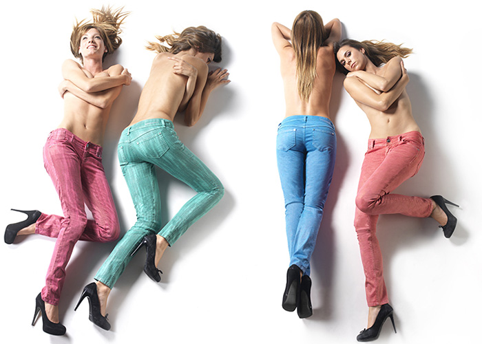 FREESOUL Womens Color Jeggings 2012-2013 Fall Winter: Designer Denim Jeans Fashion: Season Collections, Runways, Lookbooks, Linesheets & Ad Campaigns