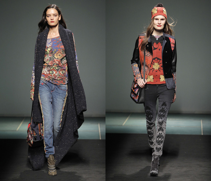 Desigual 2013-2014 Fall Winter Womens Runway Collection: Designer