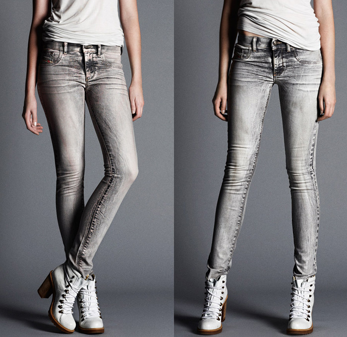 Knit Denim Jeans Womens