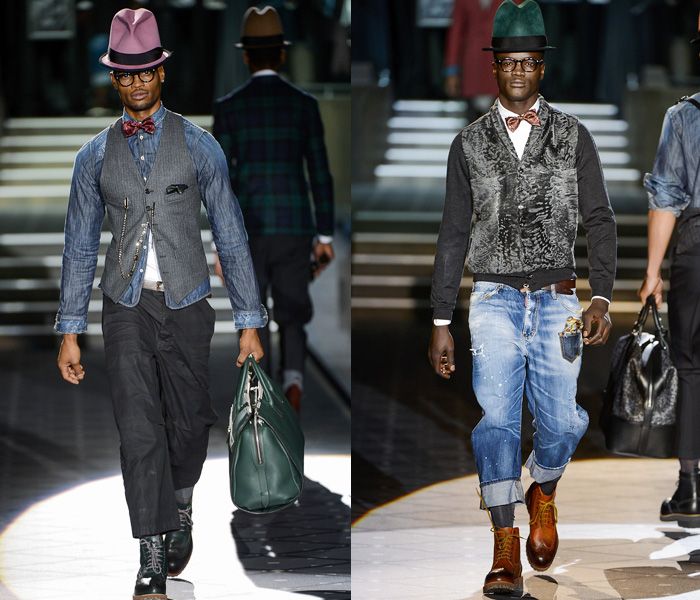 Dsquared2 2013-2014 Fall Winter Mens Runway Collection: Designer Denim