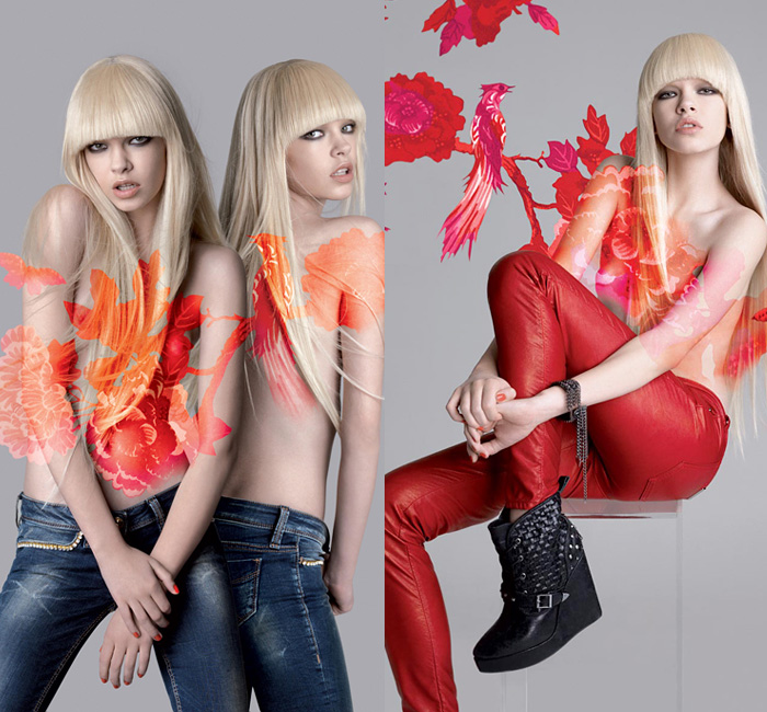 Fornarina 2013-2014 Fall Winter Ad Campaign - Autunno Inverno Moda Italy: Designer Denim Jeans Fashion: Season Collections, Runways, Lookbooks and Linesheets