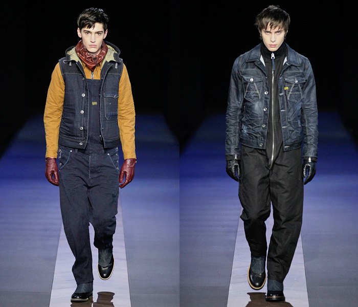g star raw 2013 2014 fall winter mens runway collection denim jeans fashion week runway. Black Bedroom Furniture Sets. Home Design Ideas