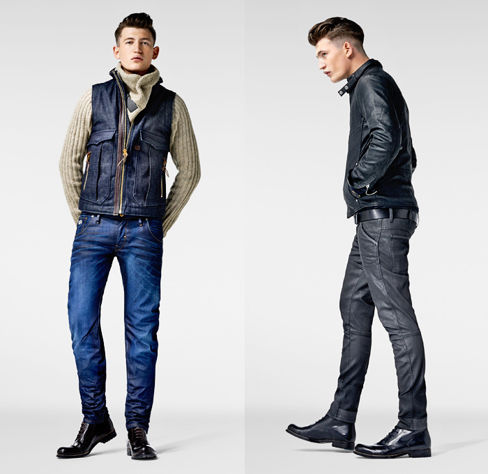 G Star Raw 2013 2014 Winter Mens Lookbook Denim Jeans Fashion Week Runway Catwalks Fashion