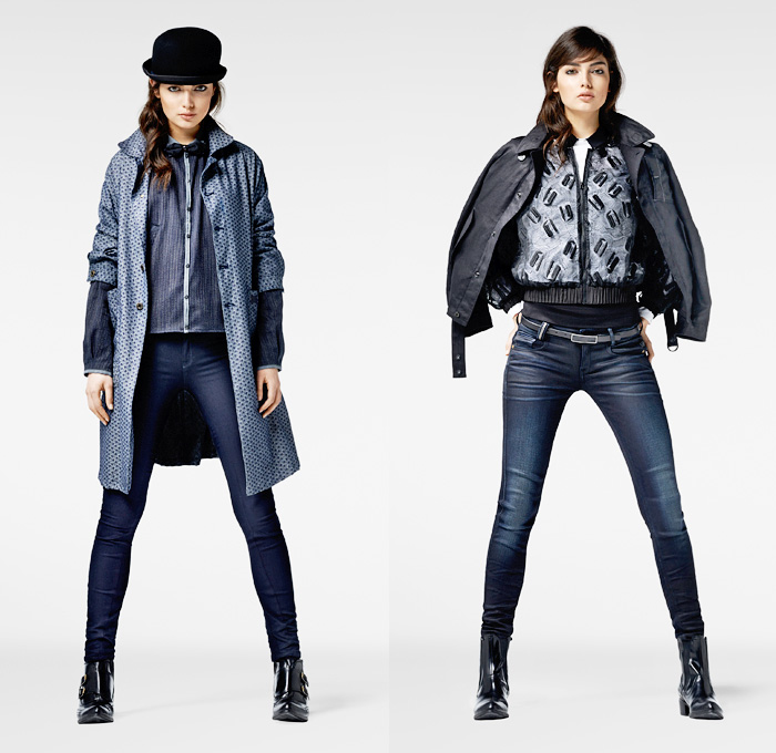(03a) Davin Shirt Bomber - Davin Jaq Overcoat - ARC Jeg Skinny Denim Jeans