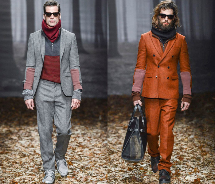 out of the woods scene trussardi showcased their 2013 2014 fall winter