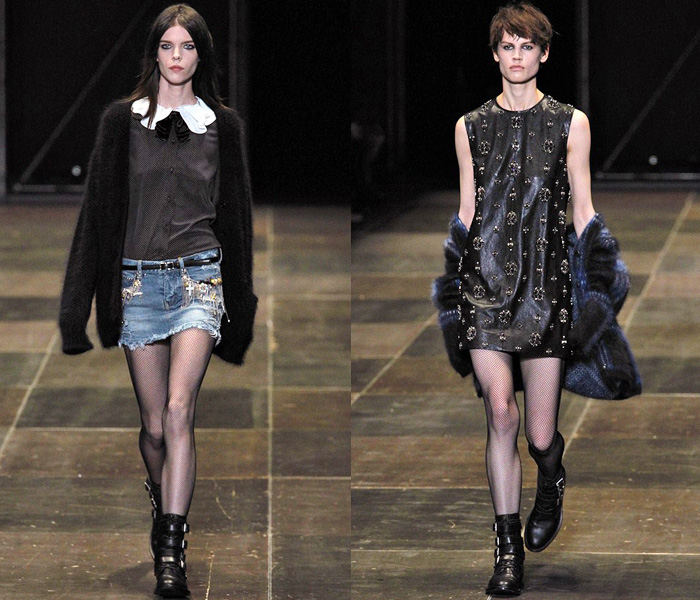 Saint Laurent 2013-2014 Fall Winter Womens Runway Collection - YSL