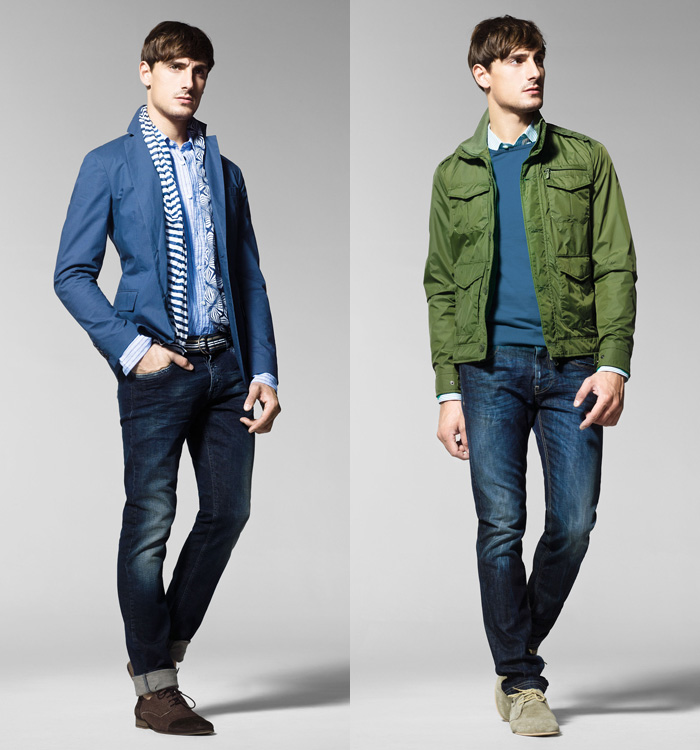 United Colors of Benetton 2013 Spring Summer Mens Lookbook | Denim Jeans Fashion Week Runway ...