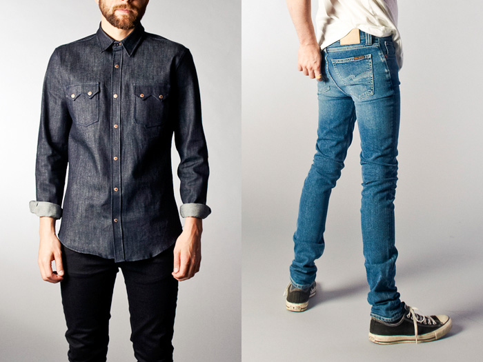 Long Denim Jacket Mens