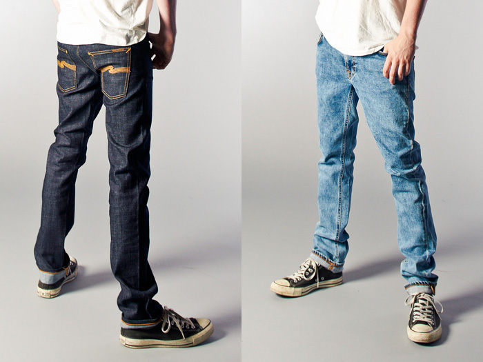 Mens Grey Slim Jeans