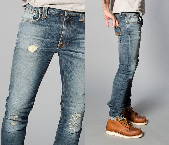 591c44e4787 Nudie Jeans 2013 Spring Summer Mens Capsule Collection - Brilliant Blues - Denim  Button Down Shirts