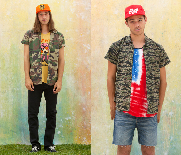 ffb7daad042e (1) Destroyer Woven Camouflage Pattern Shirts - OBEY Clothing 2013 Summer  Mens Lookbook