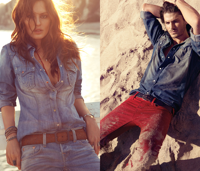 "Resultado de imagem para people using blue jeans ""True Religion."""