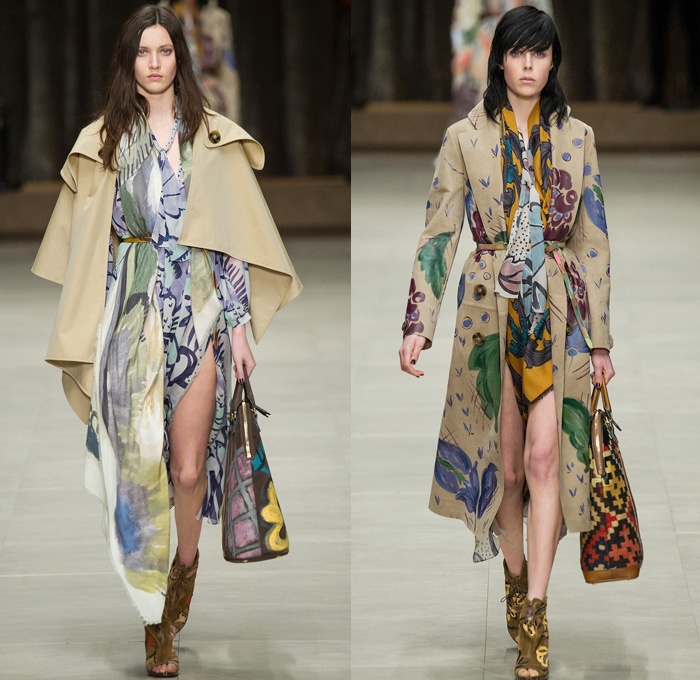 Burberry Prorsum 2014 2015 Fall Winter Womens Runway Denim Jeans Fashion Week Runway Catwalks