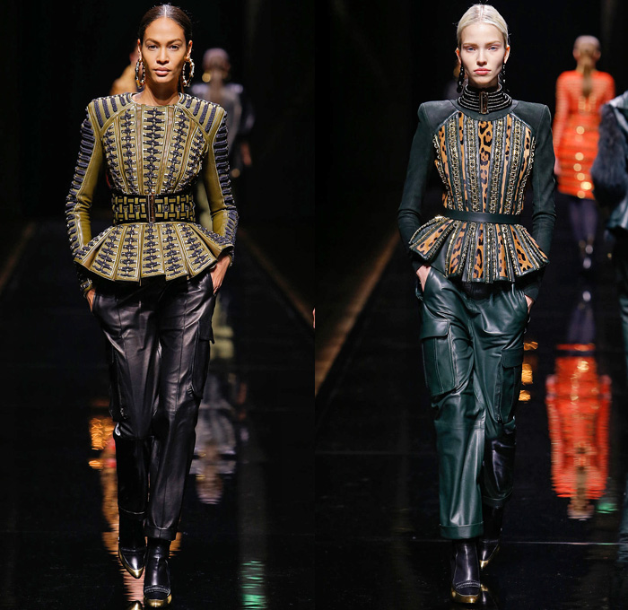 Balmain 2014-2015 Fall Autumn Winter Womens Runway Looks - Paris Fashion  Week Mode à