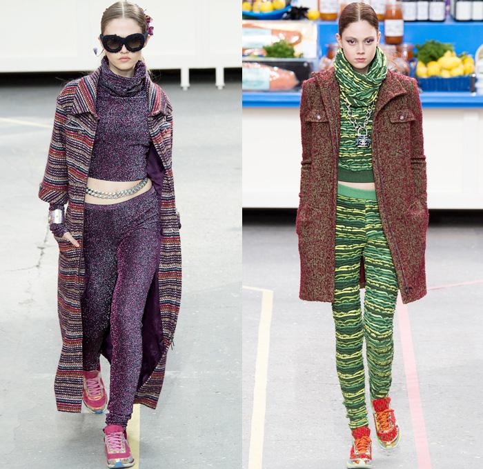 Knitting Fashion 2015 : Chanel  fall winter womens runway denim jeans