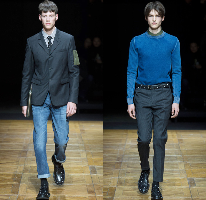 dior homme 2014 2015 fall winter mens looks denim jeans. Black Bedroom Furniture Sets. Home Design Ideas