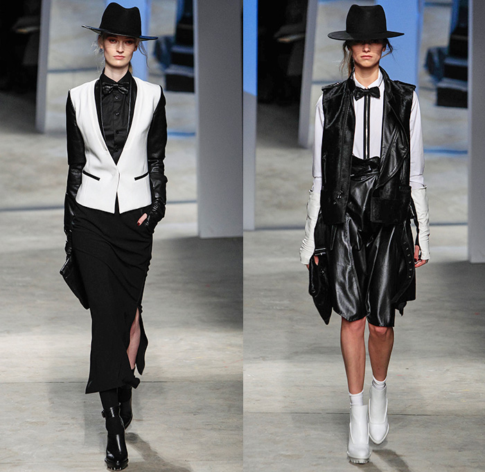 Kenneth Cole Collection 2014 2015 Fall Winter Womens Runway Denim Jeans Fashion Week Runway
