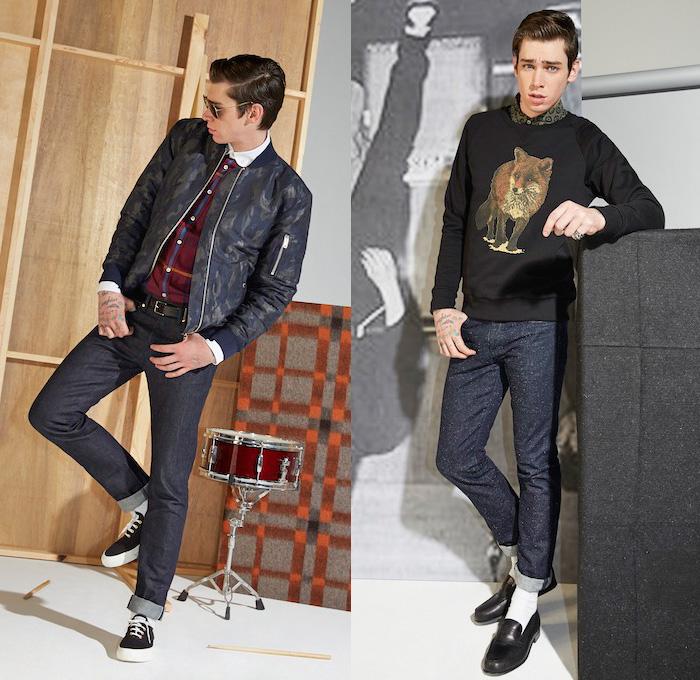Maison Kitsun 233 2014 2015 Fall Winter Mens Denim Jeans