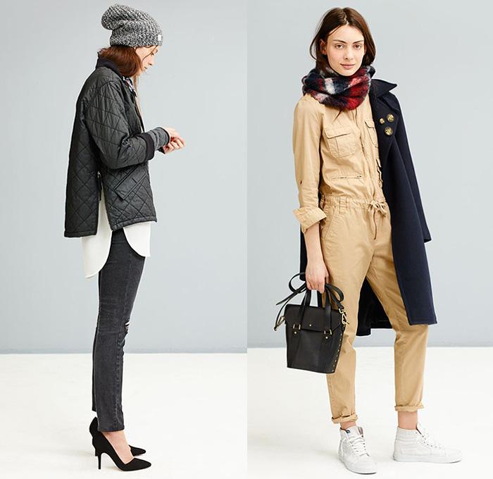 029a1866d34e Madewell 2014-2015 Fall Autumn Winter Womens Lookbook Collection - Denim  Jeans Thigh Panel Patchwork
