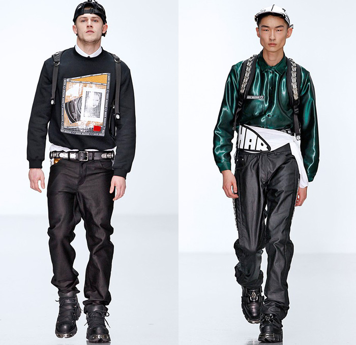 Nasir Mazhar 2014 2015 Fall Winter Mens Runway Looks Denim Jeans Fashion Week Runway Catwalks