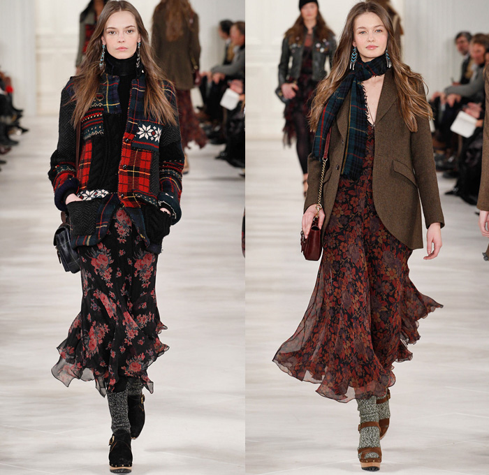 Polo Ralph Lauren 2014 2015 Fall Winter Womens Runway Denim Jeans Fashion Week Runway Catwalks