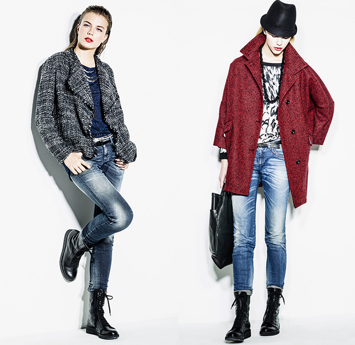9ff4ae111b Sisley Italy 2014-2015 Fall Autumn Winter Womens Lookbook Collection -  Denim Jeans Destroyed Destructed