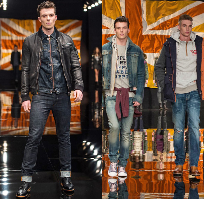 Superdry 2014 2015 Fall Winter Mens Runway Denim Jeans