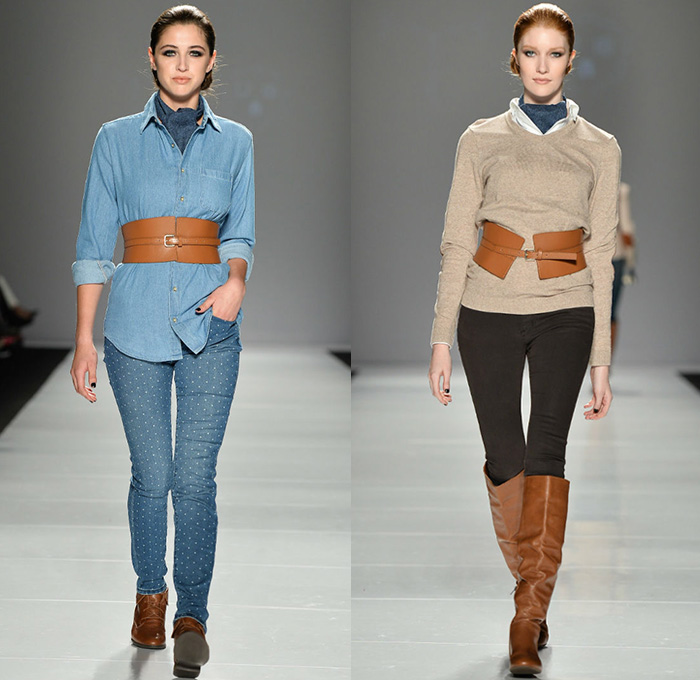 Triarchy 2014 2015 Fall Autumn Winter Womens Mens Runway Denim Jeans Fashion Week Runway