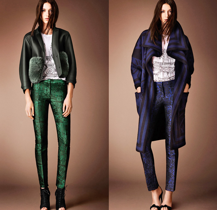 Burberry Prorsum 2014 Pre Fall Womens Looks Denim Jeans