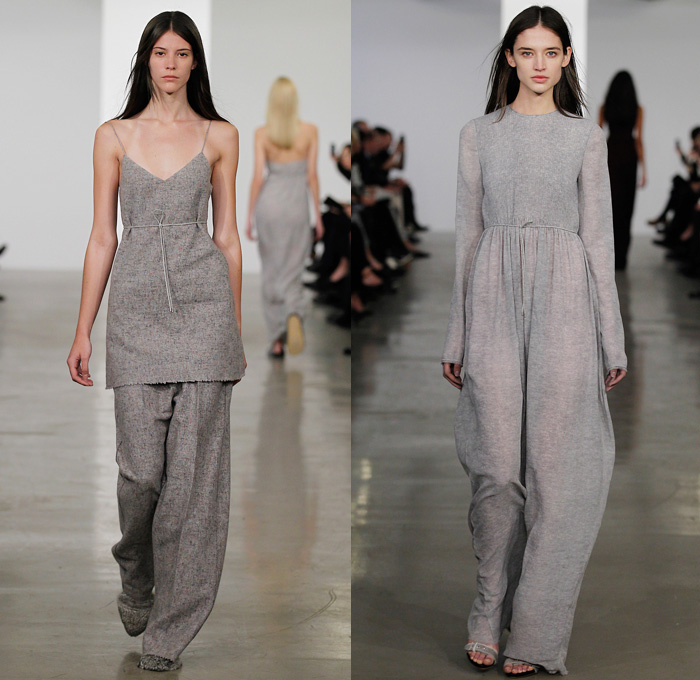 08ff0cfaf9 Calvin Klein Collection 2014 Pre Fall Womens Presentation - Pre Autumn  Collection - Slouchy Loungewear Drapery