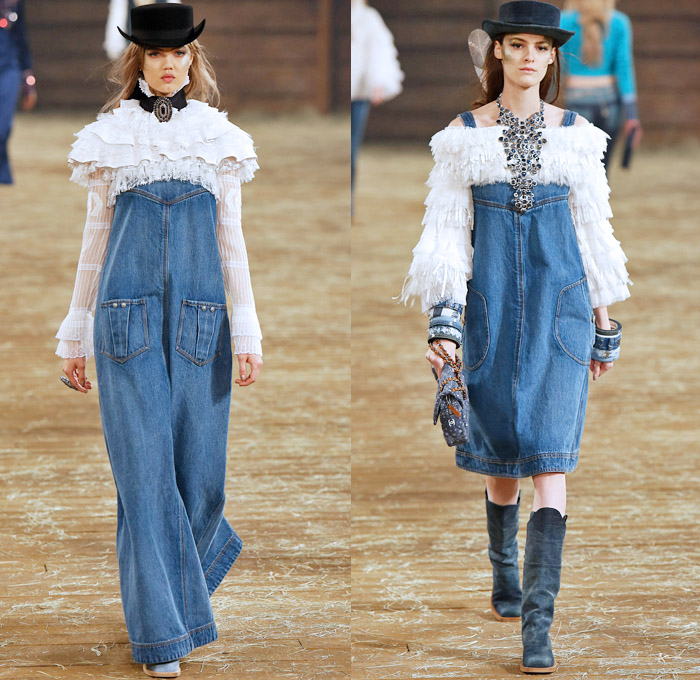 2017 fashion trend forecast - Chanel 2014 Pre Fall Womens Runway Looks Denim Jeans