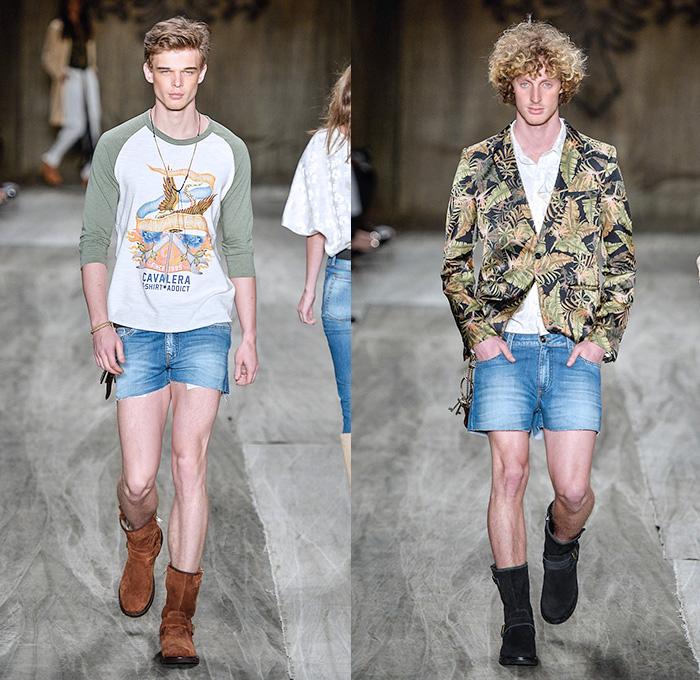 Cavalera 2014 2015 Summer Mens Runway Looks Denim Jeans Fashion