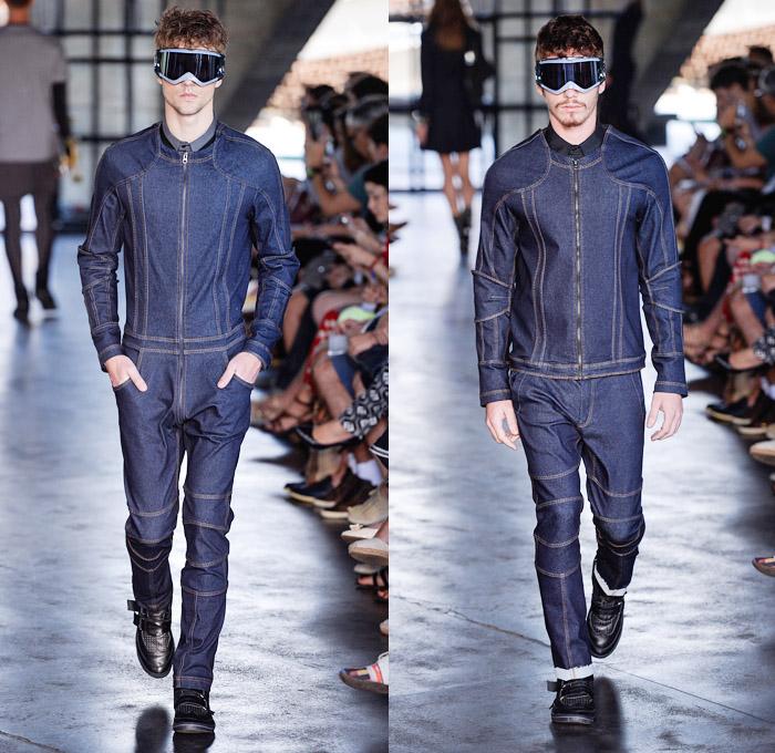 Herchcovitch 2014 Winter Mens Runway Denim Jeans Fashion