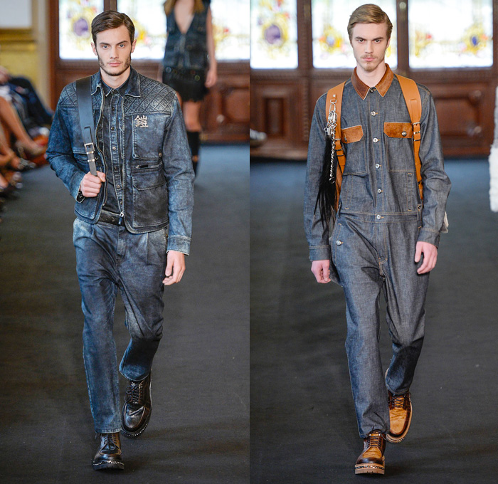 Ellus Brazil 2014 Winter Mens Runway Denim Jeans Fashion