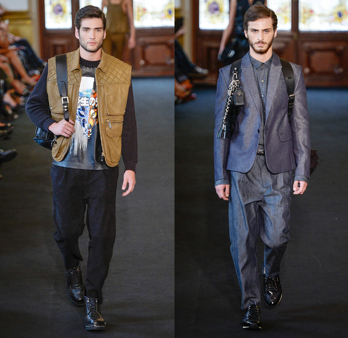 Ellus Brazil 2014 Winter Mens Runway Denim Jeans Fashion