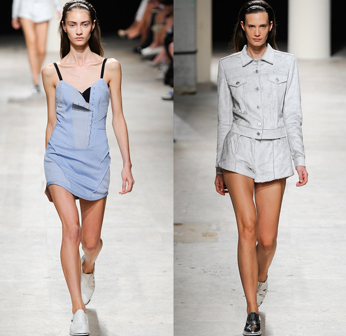 Barbara Bui 2014 Spring Summer Womens Runway Denim Jeans
