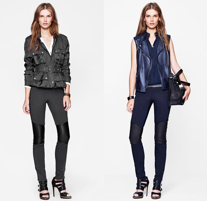 Belstaff 2014 Spring Womens Presentation - New York Fashion Week - Motorcycle Biker Racer Rider Leather