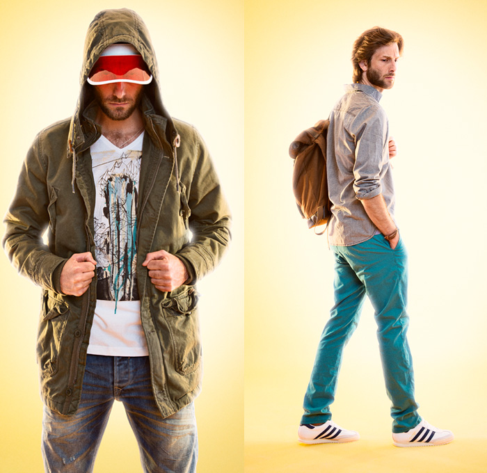 Blend 2014 Spring Opening Mens Lookbook - Sporty Casuals Denim Jeans Track Jacket Parka Shorts Jorts Shirt: Designer Denim Jeans Fashion: Season Collections, Runways, Lookbooks and Linesheets