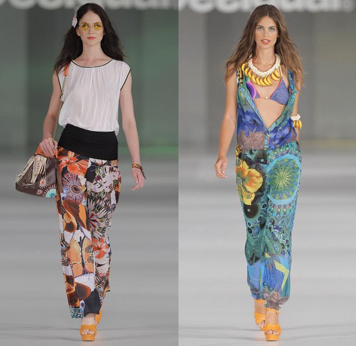 Desigual 2014 Spring Summer Womens Runway Denim Jeans