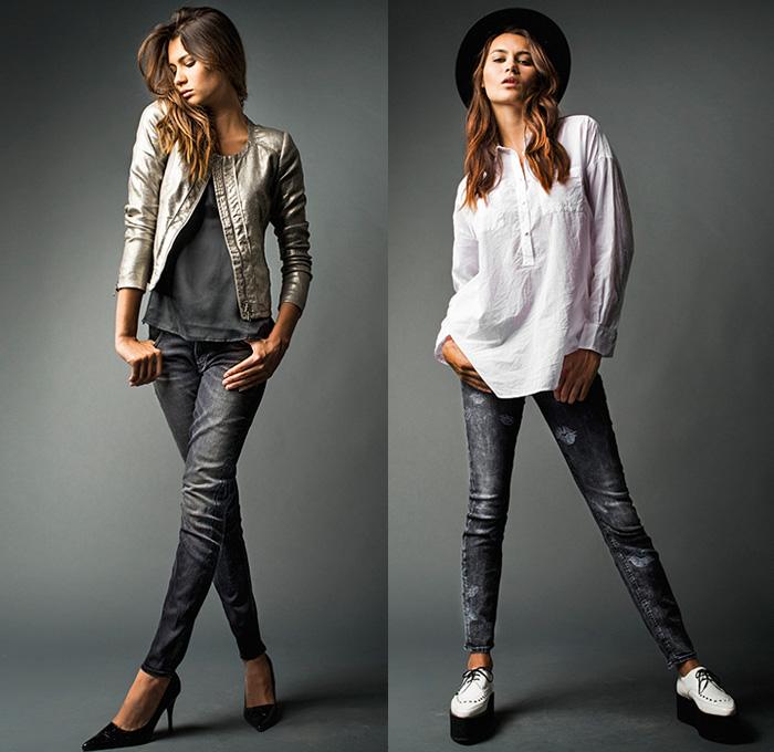 Womens Red Denim Jeans