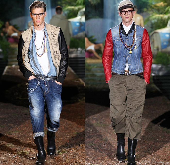 Dsquared2 2014 Spring Summer Mens Runway Denim Jeans