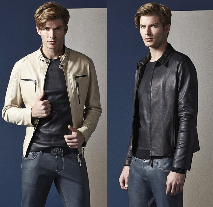 Jitrois 2014 Spring Summer Mens Lookbook Collection - Minimal Coated Denim Jeans Vest Leather Suede Hooded Motorcycle Biker Jacket Suit: Designer Denim Jeans Fashion: Season Collections, Runways, Lookbooks and Linesheets