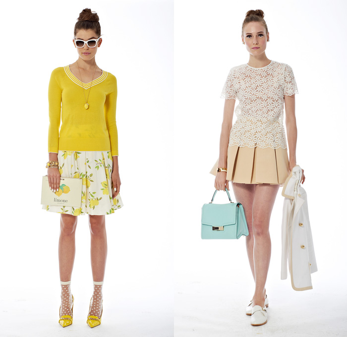 243794471ed Kate Spade 2014 Spring Womens Presentation - New York Fashion Week -  Windowpane Checks Abstract Florals