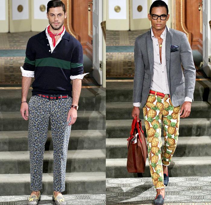 Michael Bastian 2016 Spring Summer Mens Runway Collection New York Fashion Week Pineles Leopard