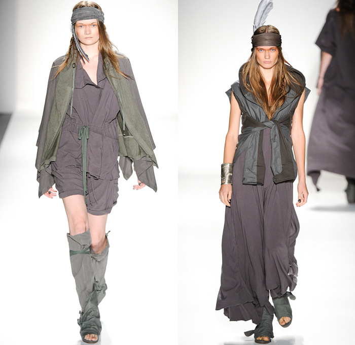 Nicholas k 2014 spring womens runway collection denim for American haute couture designers