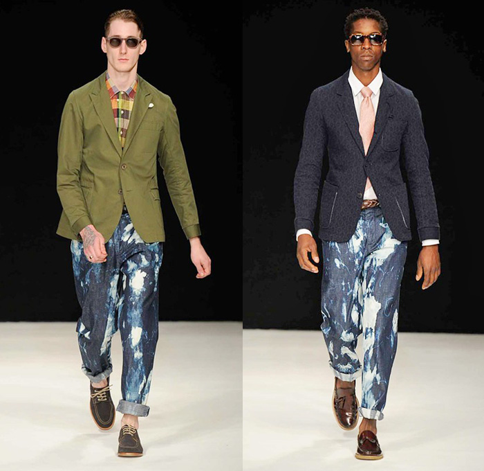oliver spencer 2014 spring summer mens runway denim