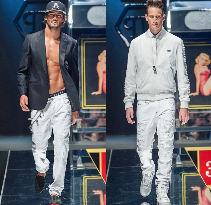 Philipp Plein Spring Summer 2014 Mens Runway Denim Jeans
